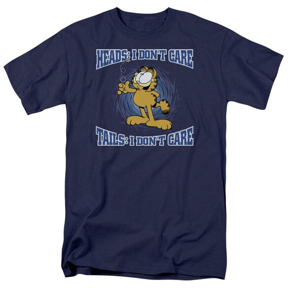 GARFIELD HEADS OR TAILS - S/S ADULT 18/1 - NAVY T-Shirt