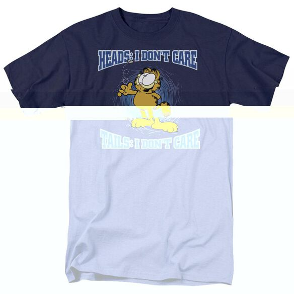 GARFIELD HEADS OR TAILS-S/S ADULT 18/1 - NAVY T-Shirt