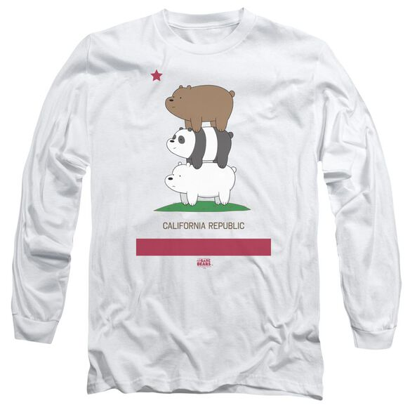 We Bare Bears Cali Stack Long Sleeve Adult T-Shirt