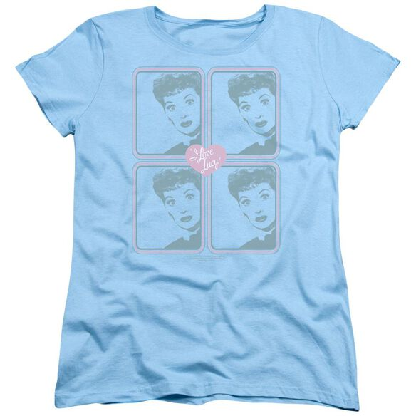 I Love Lucy Lucy Squared Short Sleeve Womens Tee Light T-Shirt