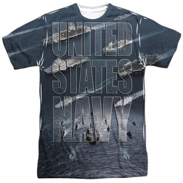 Navy Fleet Short Sleeve Adult Poly Crew T-Shirt