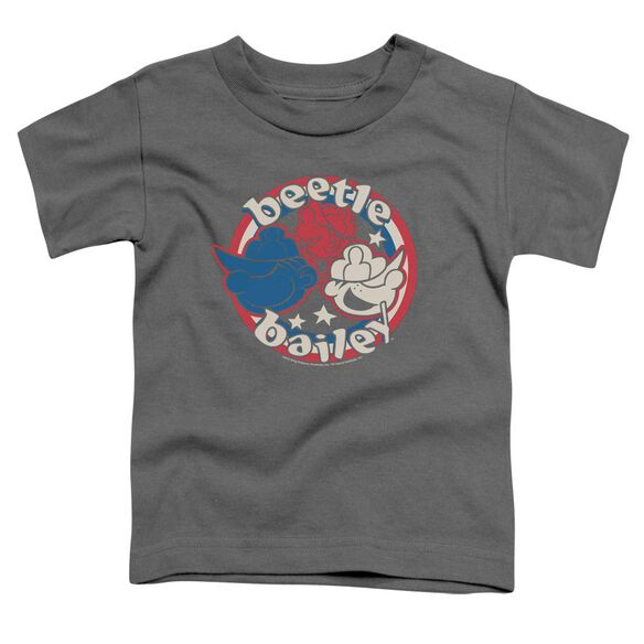 Beetle Bailey Red White And Bailey Short Sleeve Toddler Tee Charcoal T-Shirt