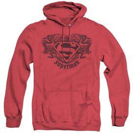 Superman Superman Dragon - Adult Heather Hoodie - Red