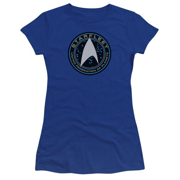 Star Trek Beyond Starfleet Patch Premium Bella Junior Sheer Jersey Royal