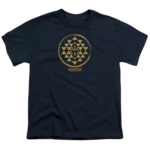 BSG GOLD SQUADRON PATCH - S/S YOUTH 18/1 - NAVY T-Shirt