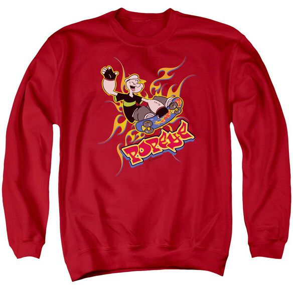 Popeye Get Air Adult Crewneck Sweatshirt