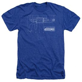 Warehouse 13 Tesla Gun - Adult Heather - Royal Blue