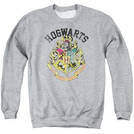 Harry Potter Hogwarts Crest Adult Crewneck Sweatshirt Athletic