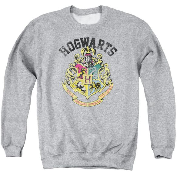 Harry Potter Hogwarts Crest Adult Crewneck Sweatshirt Athletic