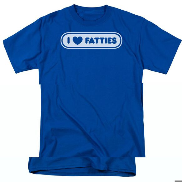 I HEART FATTIES - ADULT 18/1 - ROYAL BLUE T-Shirt