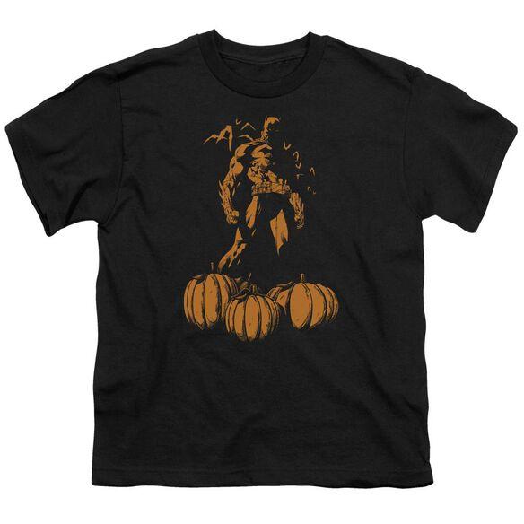 Batman A Bat Among Pumpkins Short Sleeve Youth T-Shirt