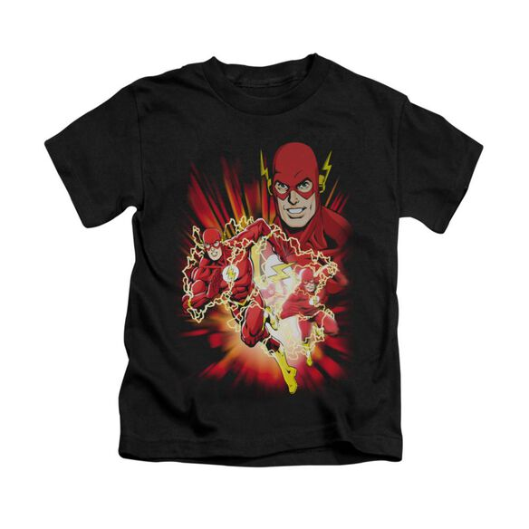 Jla Speed Force Short Sleeve Juvenile Black T-Shirt