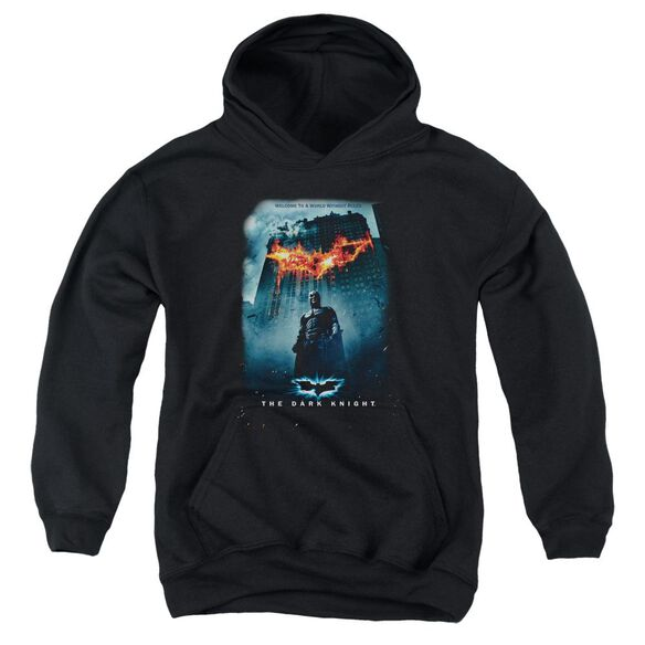 Dark Knight Without Rules Poster Youth Pull Over Hoodie