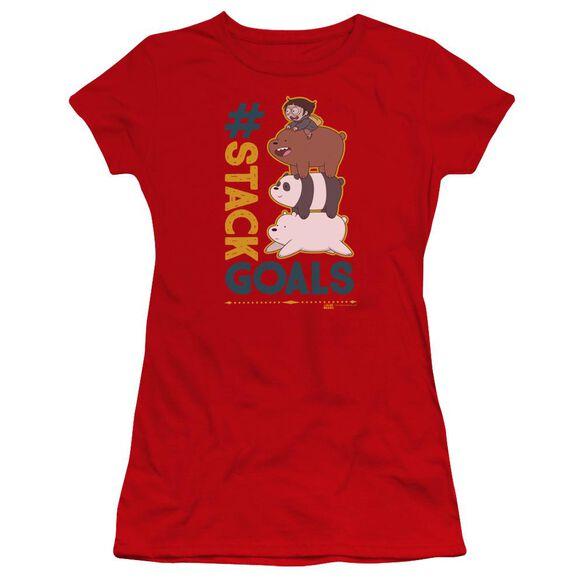 We Bare Bears Stack Goals Hbo Short Sleeve Junior Sheer T-Shirt