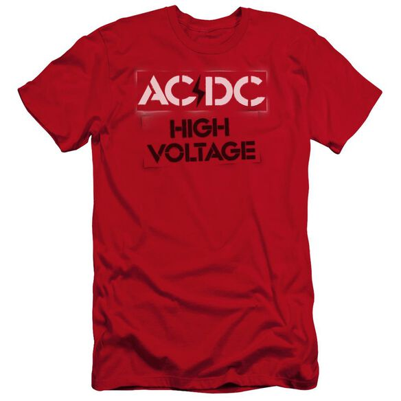 Acdc High Voltage Stencil Premuim Canvas Adult Slim Fit