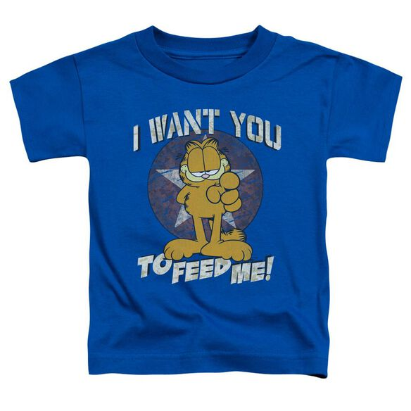 Garfield I Want You Short Sleeve Toddler Tee Royal Blue Sm T-Shirt