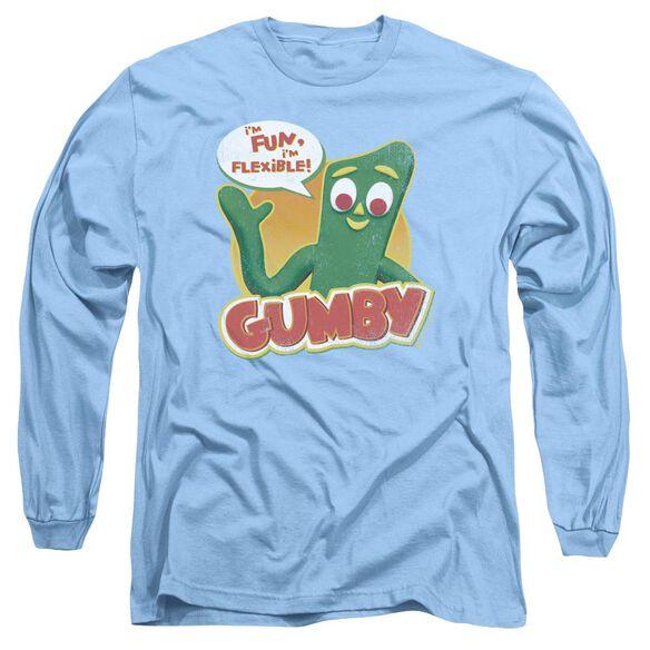 GUMBY FUN & FLEXIBLE - L/S ADULT 18/1 - CAROLINA BLUE T-Shirt