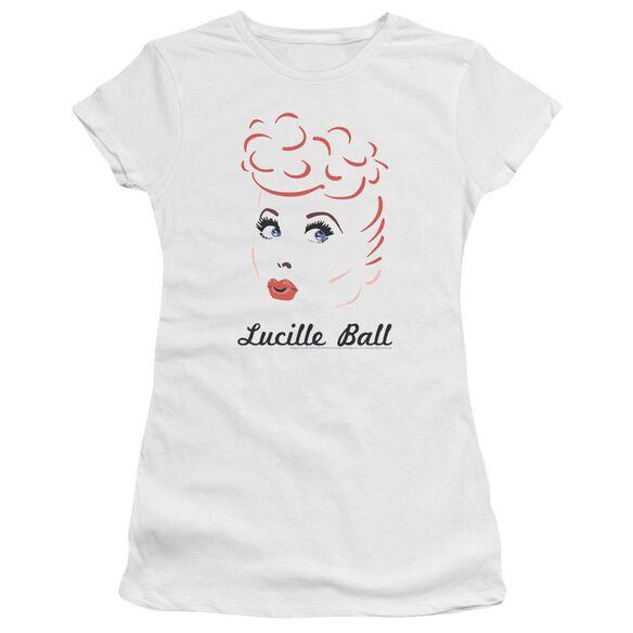 Lucille Ball Drawing Short Sleeve Junior Sheer T-Shirt