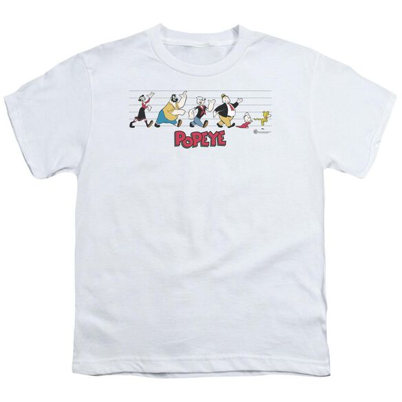Popeye The Usual Suspects Short Sleeve Youth T-Shirt