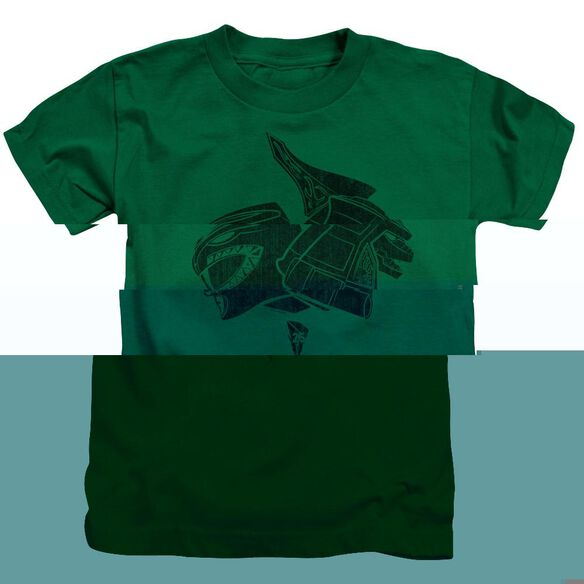 Power Rangers Green Short Sleeve Juvenile Kelly Green T-Shirt