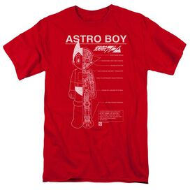 Astro Boy Schematics Short Sleeve Adult T-Shirt