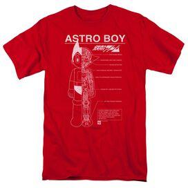Astro Boy Schematics Short Sleeve Adult T-Shirt