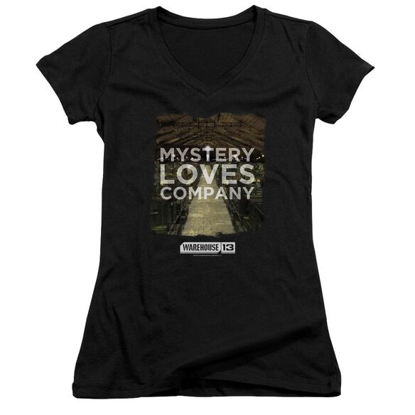Warehouse 13 Mystery Loves Junior V Neck T-Shirt