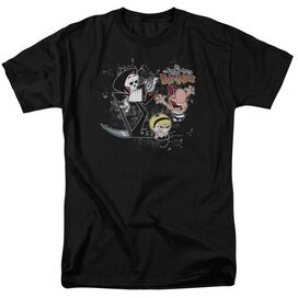 Billy & Mandy Splatter Cast Short Sleeve Adult T-Shirt