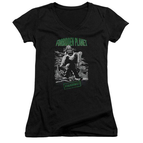 Forbidden Planet Robot Poster Junior V Neck T-Shirt