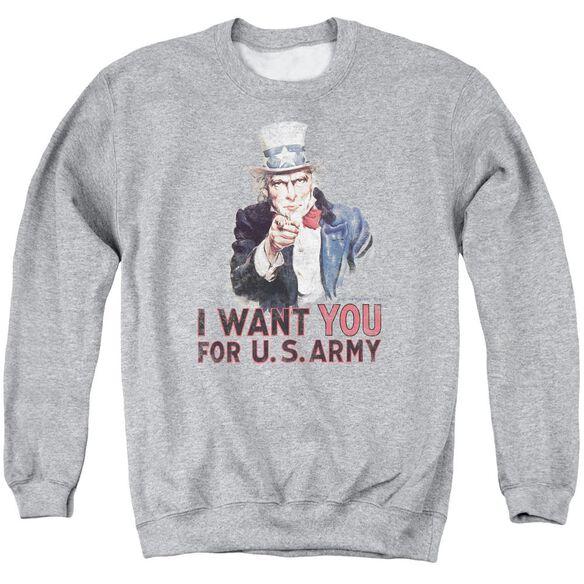 Army I Want You Adult Crewneck Sweatshirt Athletic