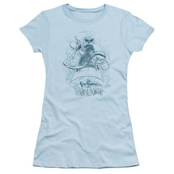 Grim Adventures Of Billy & Mandy Sketched Short Sleeve Junior Sheer Light T-Shirt