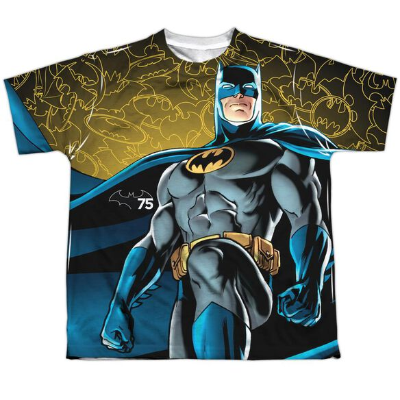 Batman 75 Glow Short Sleeve Youth Poly Crew T-Shirt