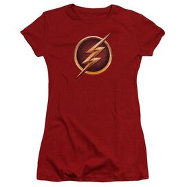 The Flash Chest Logo Premium Bella Junior Sheer Jersey