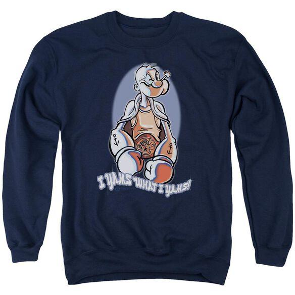 Popeye I Yams - Adult Crewneck Sweatshirt - Navy