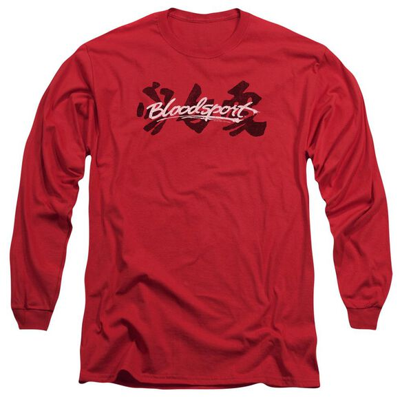 Bloodsport Kanji Long Sleeve Adult T-Shirt