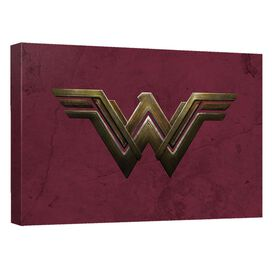 Wonder Woman Movie Emblem Canvas Wall Art With Back Board