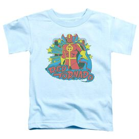 Dc Red Tornado Stars Short Sleeve Toddler Tee Light Blue Md T-Shirt