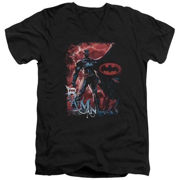Batman Gotham Reign Short Sleeve Adult V Neck T-Shirt