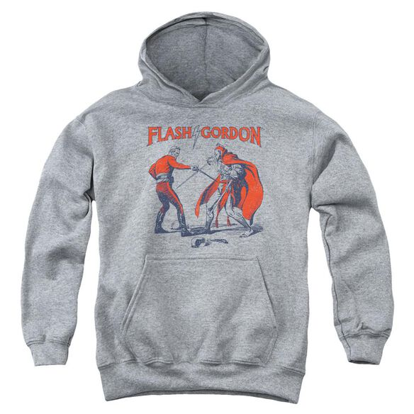 Flash Gordon Duel Youth Pull Over Hoodie Athletic