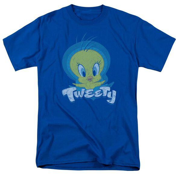 Looney Tunes Tweety Swirl Short Sleeve Adult Royal T-Shirt