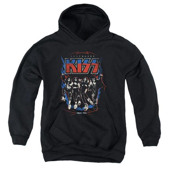 Kiss Destroyer Youth Pull Over Hoodie