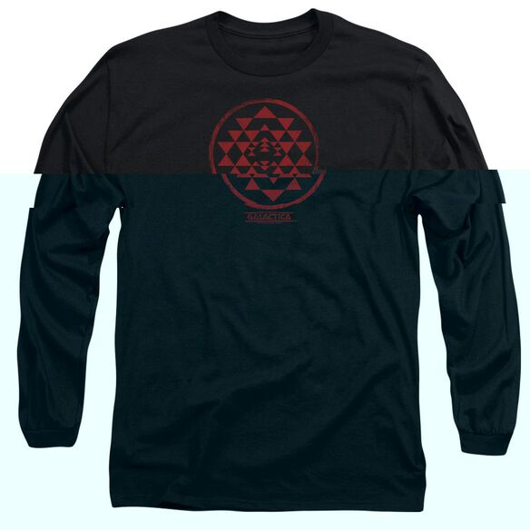 BSG RED SQUADRON PATCH - L/S ADULT 18/1 - BLACK T-Shirt