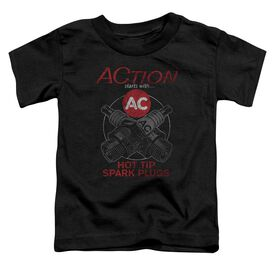 Ac Delco Cross Plugs Short Sleeve Toddler Tee Black T-Shirt