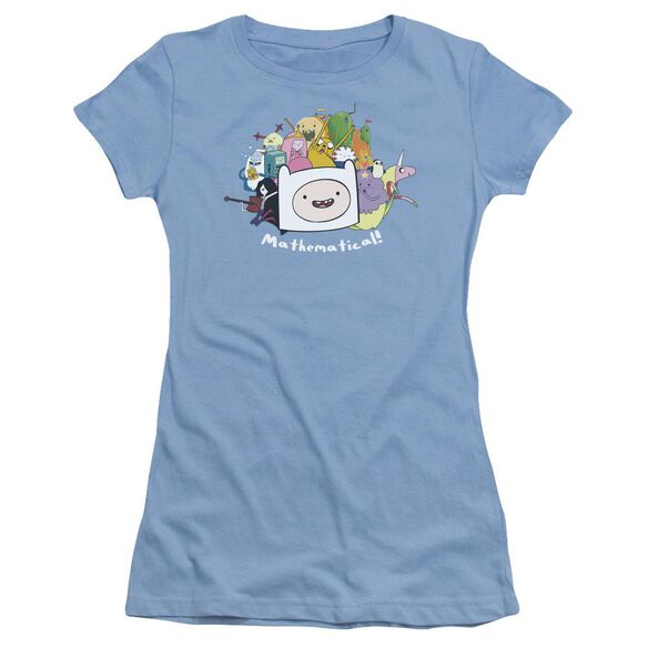 Adventure Time Mathematical Short Sleeve Junior Sheer Carolina T-Shirt