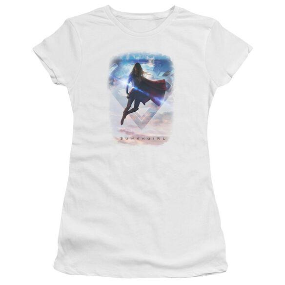 Supergirl Endless Sky Short Sleeve Junior Sheer T-Shirt