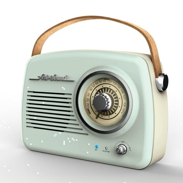 Art + Sound Wireless Vintage Radio [Mint Green]
