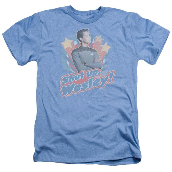 Star Trek Shut Up Wesley Adult Heather Light