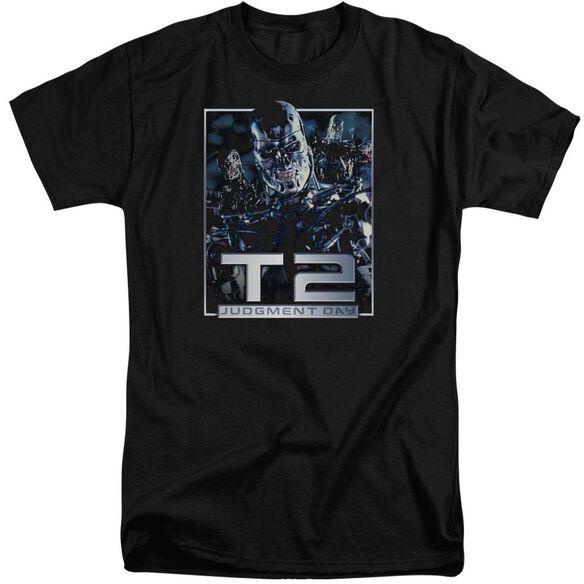 Terminator 2 T2 Robots Short Sleeve Adult Tall T-Shirt