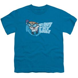 DEXTERS LABORATORY GET OUT - S/S YOUTH 18/1 - TURQUOISE T-Shirt