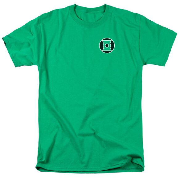 Lantern Kyle Rayner Logo Short Sleeve Adult Kelly T-Shirt